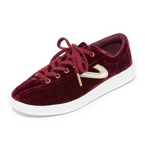 RED VELVET TRETORN SNEAKERS